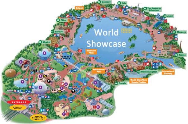 mapa-do-world-showcase-no-epcot